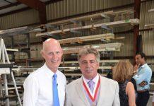 Govenor Rick Scott Visit at Storm Smart in Fort Myers, FL