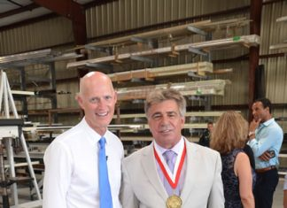 Govenor Rick Scott Visit at Storm Smart in Fort Myers, FL