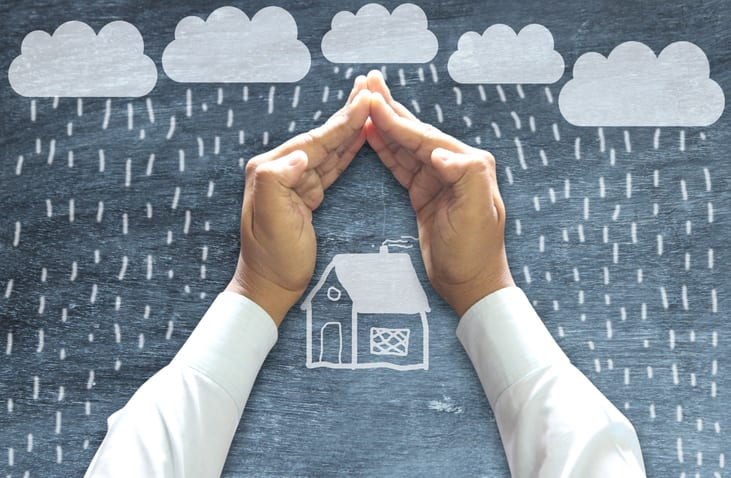 Homewner protecting the house in Fort Myers, FL as insurance